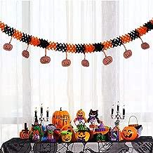 Shan-S Halloween Decorations, Festival Bar Kindergarten Scene Props Pumpkin Pendant Banner Pull Flower Flag Hanging Ornaments Venue Layout Props