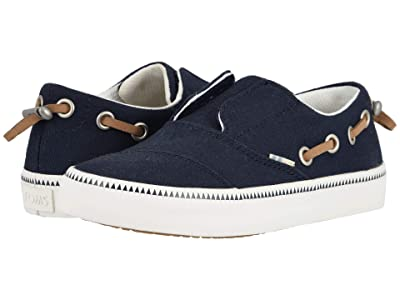 TOMS Kids Pasadena (Little Kid/Big Kid) (Navy Canvas) Boy