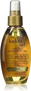OGX Anti-frizz Hydrating Kukui Oil, Hydrate Plus Defrizz, 4 Ounce (Pack 2)