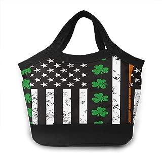 JOSHUASMITHddd Ireland American Flag Shamrocknovelty Unisex Lunch Bag, Handbag, Shopping Bag Insulation Lunch Bag Insulated Waterproof Zipper Boy Girl Office School Outdoor Picnic Travel Sports