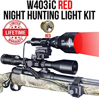 Wicked Lights W403iC RED Night Hunting Light Kit for Predator, Varmint & Hog Complete Red led Light kit