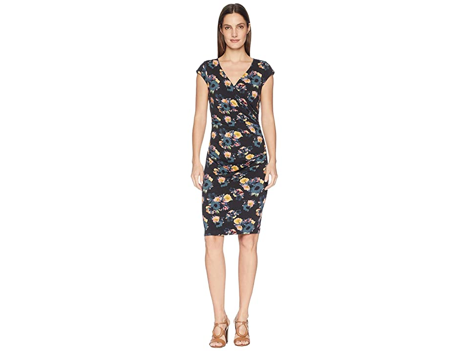 Nicole Miller Beckett Jersey Dress (Black Multi) Women