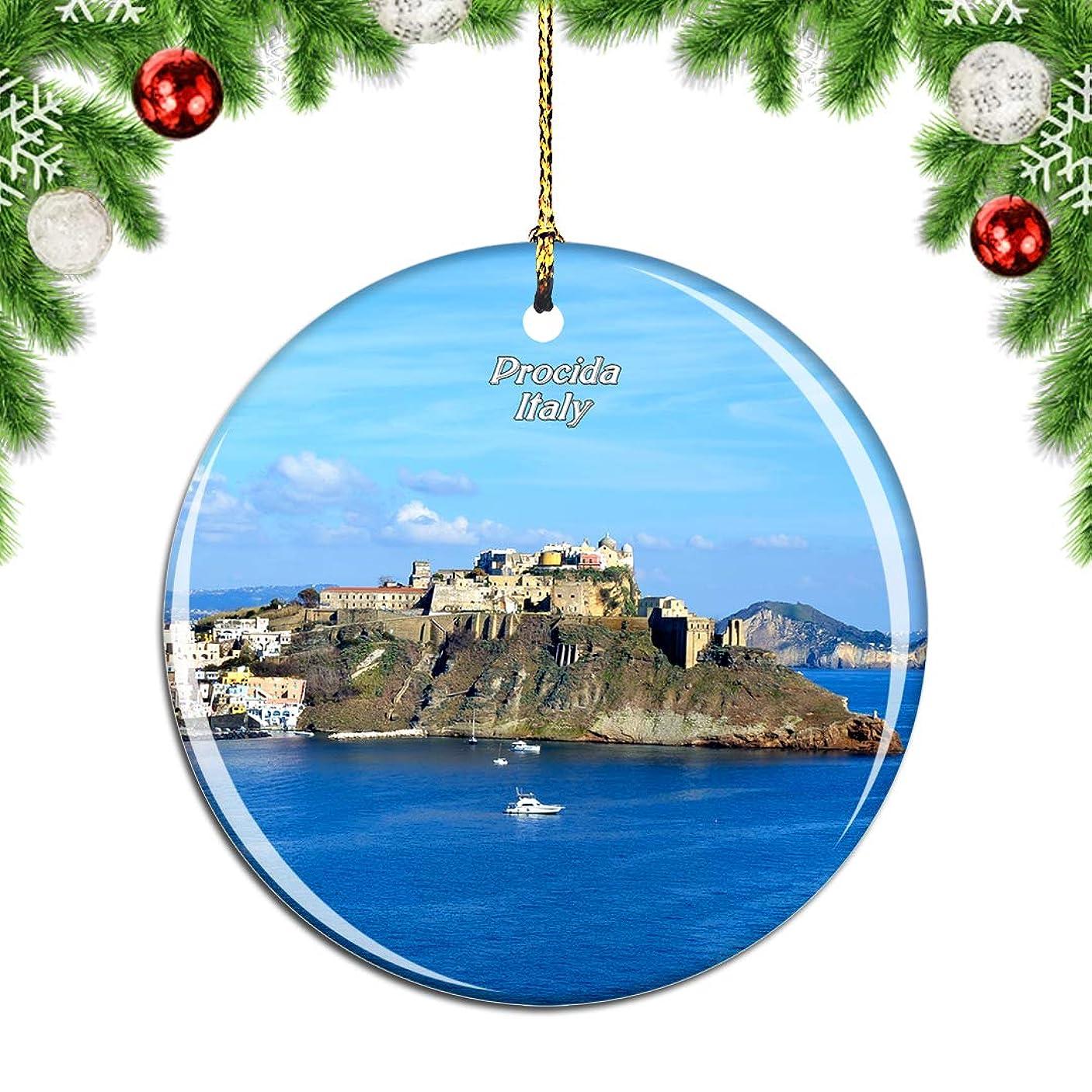 欠如クレアダイアクリティカルWeekinoプローチダクリスマスデコレーションオーナメントクリスマスツリーペンダントデコレーションシティトラベルお土産コレクション磁器2.85インチ