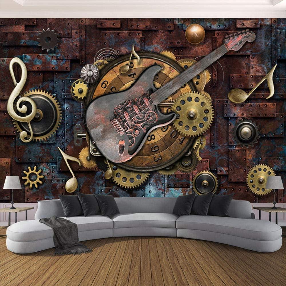 Custom New popularity Photo Wallpaper for Walls 3D Guitar Retro B Ranking TOP8 Notes Musical