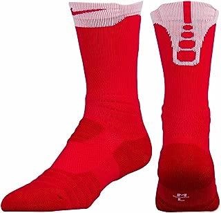 Elite Versatility Basketball Socks Red Size Large Crew