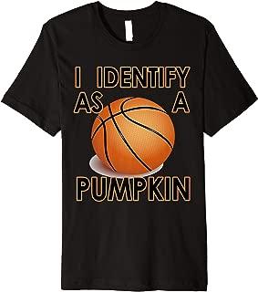 I Identify as a pumpkin funny Halloween Premium T-Shirt