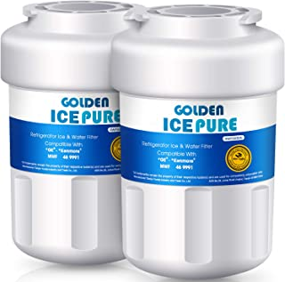MWF Replacement Refrigerator Water Filter GE SmartWater MWF, MWFA, GWF, HDX FMG-1, WFC1201, GSE25GSHECSS, PC75009, RWF1060, 97D6321P006, Kenmore9991, 46-9991 Golden Icepure (2 Pack)