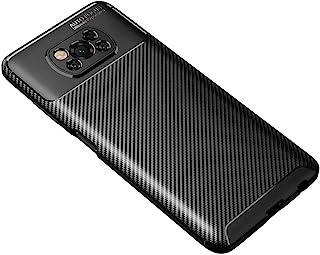 """Capa Capinha Anti Impacto Para Xiaomi Poco X3 com Tela de 6.67"""" polegadas - Case Com Desenho Fibra De Carbono Shock Queda..."""