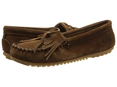Minnetonka Kilty Suede Moc (Dusty Brown Suede) Women