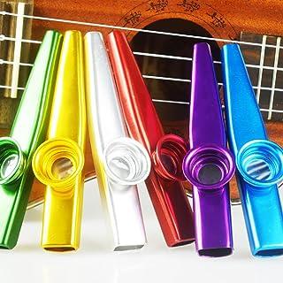 comprar comparacion SINBLUE Juego de 6 Coloridos Metal Kazoo – Un buen compañero para guitarra, ukelele, violín, piano teclado (gran regalo pa...