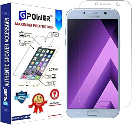 G-POWER ®2.5D 0.3mm Flexible Tempered Glass Screen Protector for Samsung Galaxy A7 2017 with Installation Kit