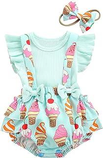 Loalirando Neugeborenes Baby Mädchen Langarm Body Romper Overalls  Röcke mit Tasche Outfits Set Herbst Kleidung Set