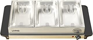 Nostalgia BCD992 Living Collection 2.5-Quart 3-Station Buffet Server and Warming Tray