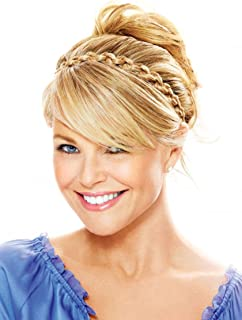 Thick Braided Headband Color HT14/88H Light Blonde Christie Brinkley 1/2 inch No Slip Grip Wide Chunky Braid Adjustable Elastic Band