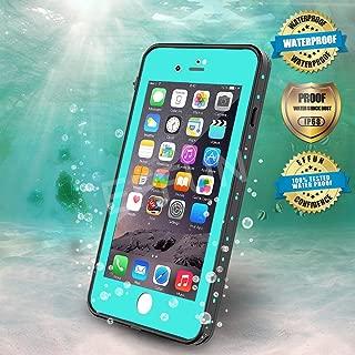 EFFUN iPhone 8/iPhone 7 Waterproof Case, Dottie Style IP68 Certified Underwater Cover Waterproof Shockproof Dustproof Dirtproof Snowproof Full Sealed Case Aqua Blue/Black/Pink/White