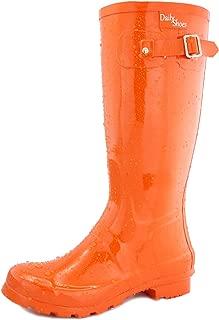 Women's Mid Calf Knee High Hunter Rain Round Toe Rainboots