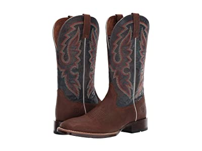 Ariat Barton Ultra (Dark Tan/Distressed Navy) Cowboy Boots