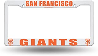 Rico San Francisco Giants MLB Team Logo Auto Car Truck SUV Vehicle Universal-fit License Plate Frame - White Plastic - Single