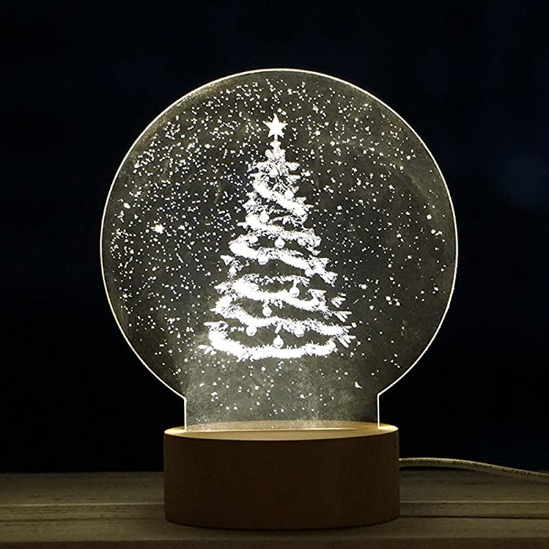 Yuege Christmas Decorations Lamp Tree Of Life Night Light Kids With USB Charge Optical Illusion Kids Lamp As A Gift Ideas For Boys Or Girls Table Top Xmas Trees With Lights
