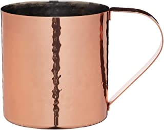 BarCraft Luxe Lounge 550 ml Hammered Stainless Steel Moscow Mule Mug - Copper Colour, Brown