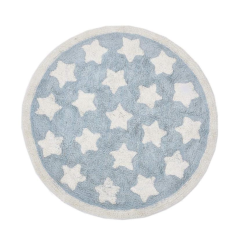 霜アヒルわかりやすいラウンドベビープレイマット新生児カーペットスター付きベビールームの装飾子供向けゲーム活動マット (マルチカラー)