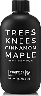 Bushwick Kitchen Trees Knees Cinnamon Maple, Organic Maple Syrup Infused with Cassia Cinnamon, 13.5 Ounce B...