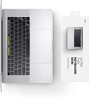 """elago Ultra Thin Keyboard Skin for MacBook 13"""" & 15"""" with Touch Bar and Touch ID [Transparent] [Everyday Use Protection] [..."""