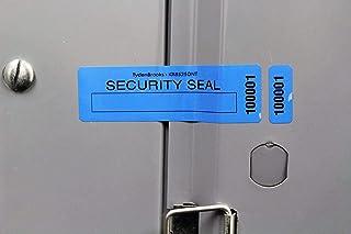 "TydenBrooks KR Residue Security Labels, 3 3/8"" X 1"", Blue, 1000 Count"
