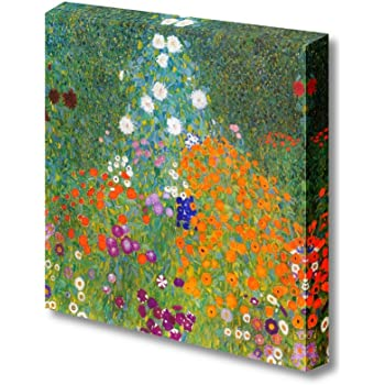 32 by 48-Inch ArtWall Gustav Klimt Farm Garden 2-Piece Gallery Wrapped Canvas Artwork