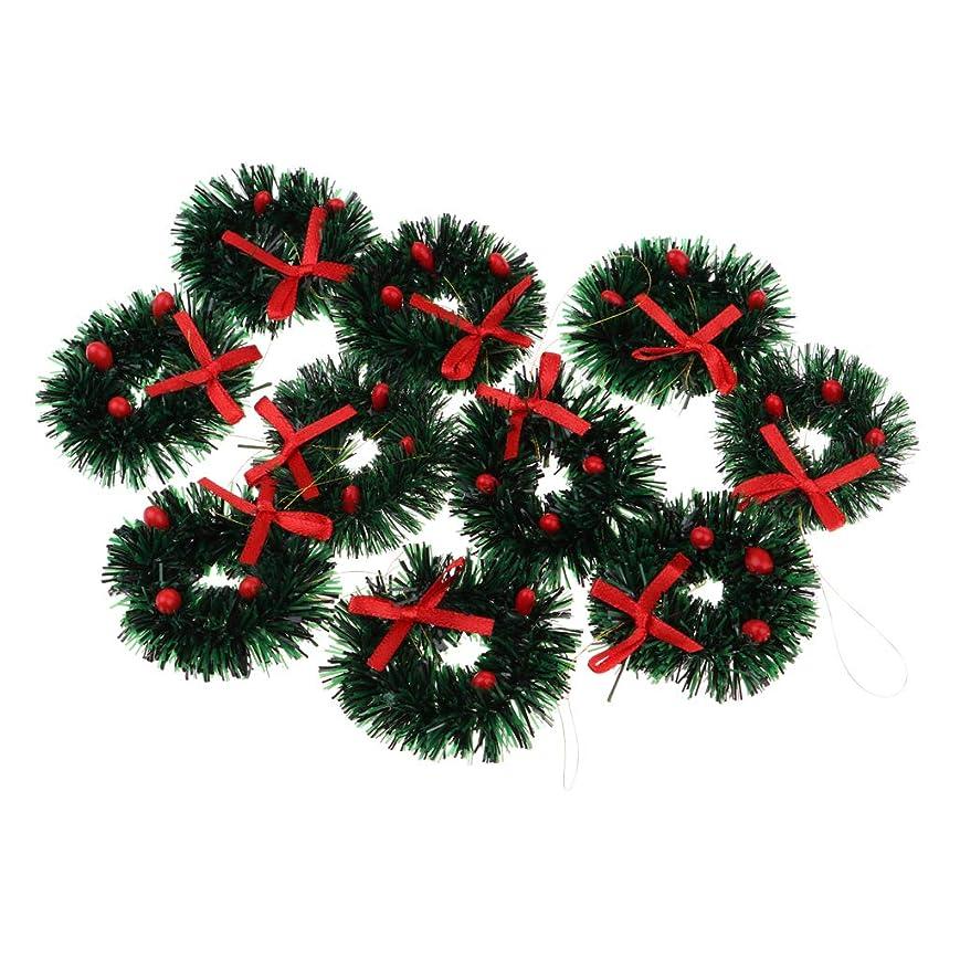 補体急性食用1/12スケール ドールハウス ミニチュア クリスマス花輪 レターボード付 人形の家 装飾 全10点 - 4cm
