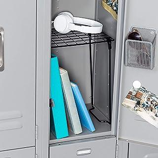 Honey-Can-Do SHF-03494 Collapsible Locker Shelf, Black, 10 lbs