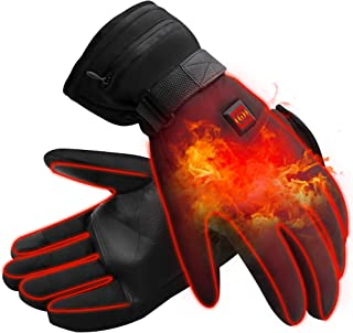 IFWATER Men Woman Electric Gloves Hand Warmer Heated Gloves with 3 Heating Levels Temperature Adjustable,3.7V Rechargeable Batteries Motocycle Gloves for Hunting Skiing Hiking Camping (3.7V-B)