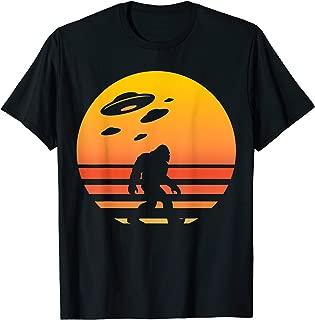 Unique Bigfoot UFO Abduction Sunset Shirt Gift