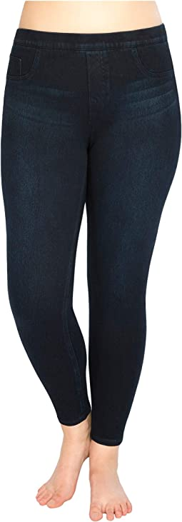 Plus Size Jean-ish® Ankle Leggings