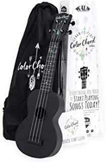 Kala KALA-LTP-SCC Learn To Play Color Chord Ukulele Starter Kit for Beginners - includes a Color Chord Soprano Ukulele, booklet, online lessons, tuner and app