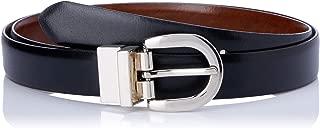 Loop Leather Co Women's Westwood Womens Leather Belt, Black/Tan