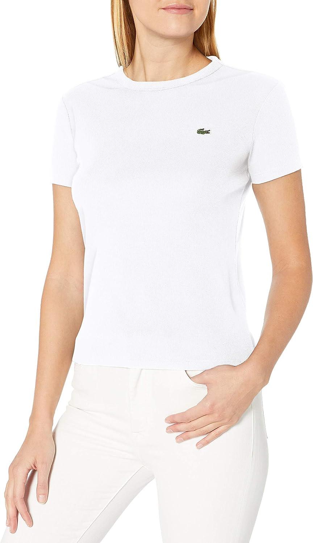 Lacoste Ranking TOP17 Women's Latest item Short Sleeve Crewneck T-Shirt Ribbed