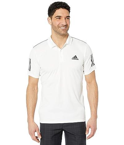 adidas Club 3-Stripes Polo (White/Black) Men