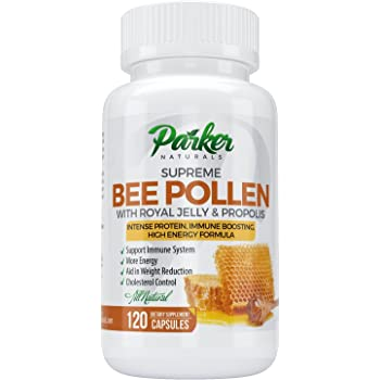 Best Bee Pollen, Royal Jelly and Propolis by Parker Naturals - Highest Quality Made by USA Bee Keepers - 120 Vegetarian Capsules - 100% Satisfaction Guarantee or Your Money Back!