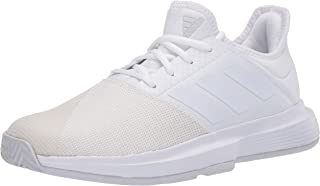adidas Women's Gamecourt W Wide Sneaker, FTWR White/FTWR White/Dash Grey