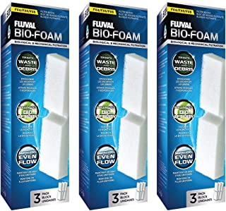 (9 Pack) Fluval FX5 Filter Foam Block, 3 Packages with 3 Filters each
