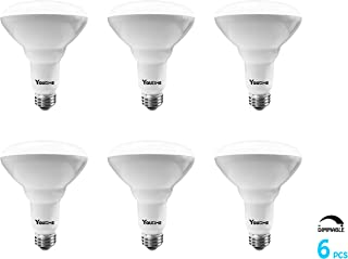 BR30 LED Bulb Dimmable, 9W (60W Equivalent) 680LM and 2700K Warm White Flood Light Indoor, E26 Medium Screw Base Light Bulb for Bedroom & Dinning Room, UL & Energy Star, 6 Packs by Youtime
