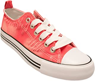 Womens Canvas Sneakers Casual Shoes Solid Colors Low Top/Low Cut Lace up Flat Fashion
