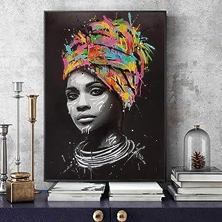 Portrait de femme africaine Toile Peintures Sur Le Mur Décoratif Toile Art Prints Cuadros Toile Photos Pour La Maison Mur ...