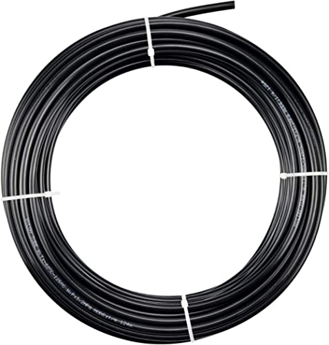 Tailonz Pneumatic Air Line 1/4 inch od Black Pneumatic Nylon Tube 32.8ft Air Brake Tubing Nylon Hose