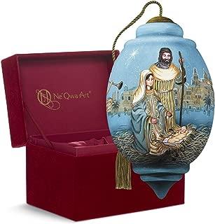 "Ne'Qwa Art, Guardian Angels Nativity"" Artist Liz Goodrick-Dillon, Princess-Shaped Glass Ornament, 7161158"