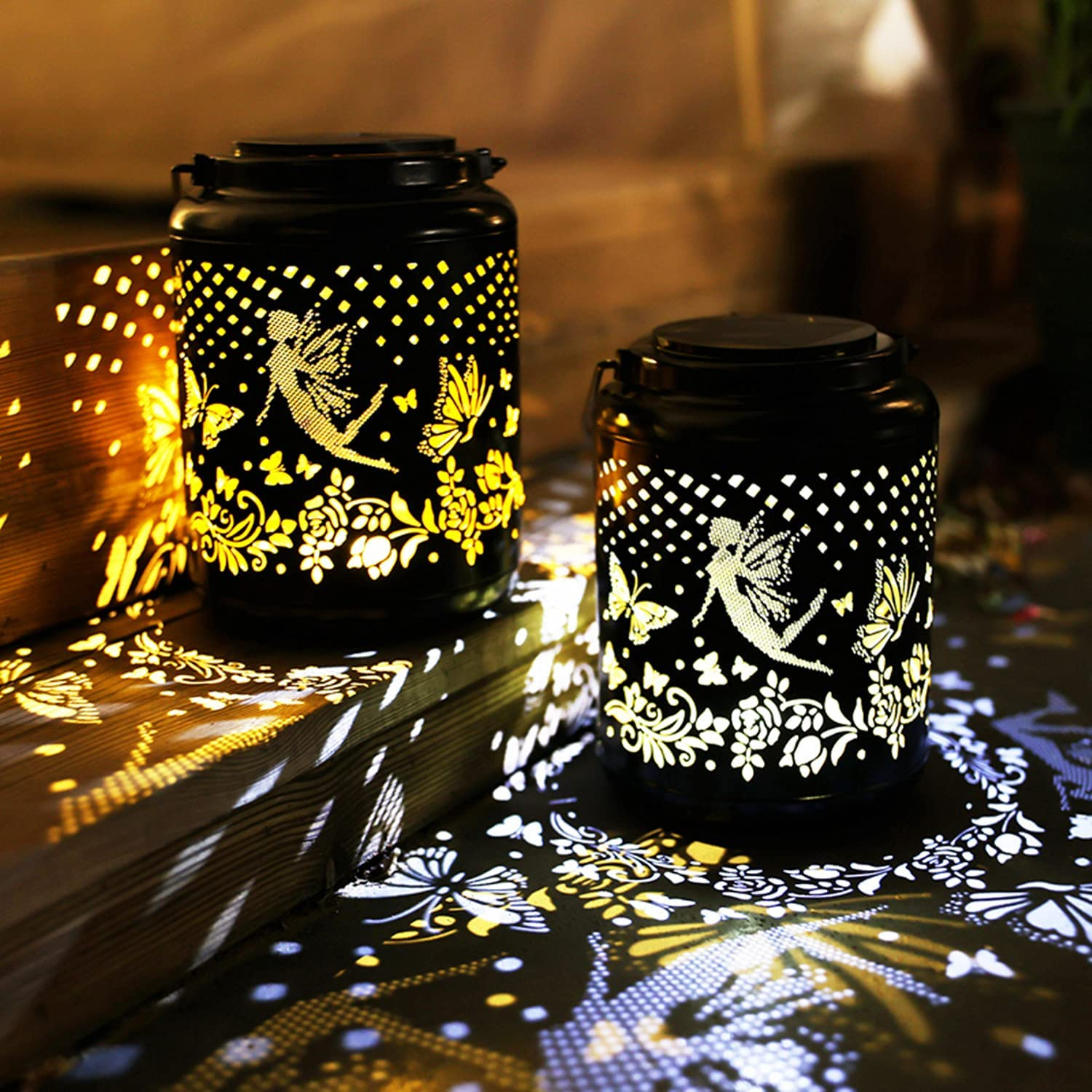 Inexpensive 2 Packs Solar Popular products Fairy Butterfly Outdoor Decorat Lantern Waterproof