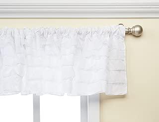 Baby Doll Bedding Layered Window Valance, White