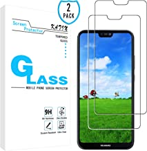 KATIN Huawei P20 Lite Screen Protector - [2-Pack] for Huawei P20 Lite Tempered Glass Film Easy to Install, Bubble Free with Lifetime Replacement Warranty
