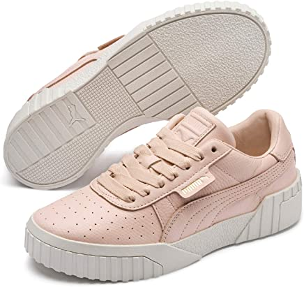 PUMA Women's CALI Emboss WN's Sneakers, Cream Tan-Cream Tan